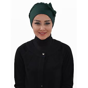 Halima - Marinblå Bomull Turban - Ayse Turban