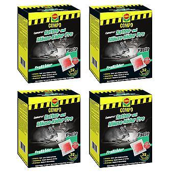 Sparset: 4 x COMPO Cumarax® Rat and Mice Bait Pro, 480 g