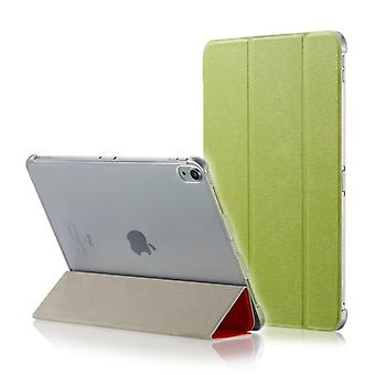 Silk Texture Horizontal Flip  Clip Magnetic PU Leather Case for iPad Pro 12.9 inch (2018), with Three-folding Holder & Sleep / Wake-up Function(Green)