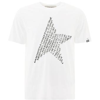 Golden Goose Gmp00780p00045210546 Hombres's camiseta de algodón blanco