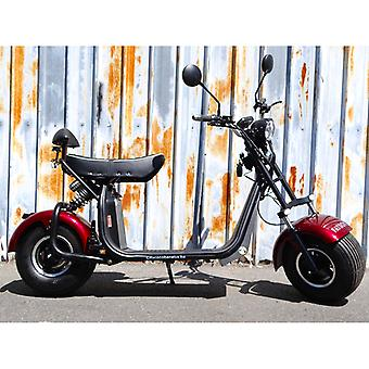 """Fatboy City Coco Smart E Electric Scooter Harley - 8 """"- 1500W - 20Ah - Clase B - Rojo"""