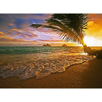 USA Hawaii Lanikai Beach at sunrise Oahu PosterPrint