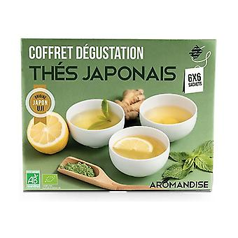 Japanese tea set in tea bags 36 infusion bags of 2g