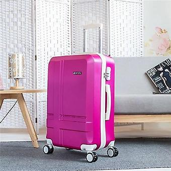 Retro Rolling Luggage Set Woman Travel Suitcase With Wheels Spinner Trolley