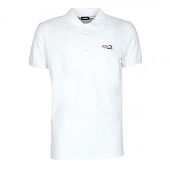 Diesel T-Weet-Split Logo White Polo