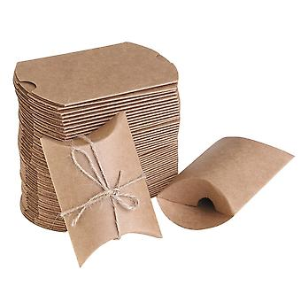50x Natural Brown Gifts Boxes Party Gift Craft Paper Gift Box - Diy Creativity Paper - 50 Pieces