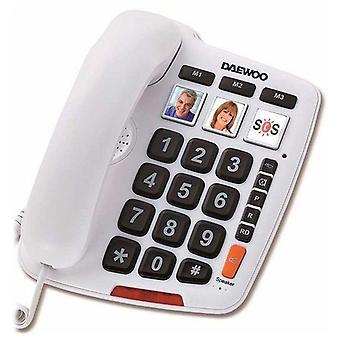 Fasttelefon för Seniorer Daewoo DTC-760 LED Vit
