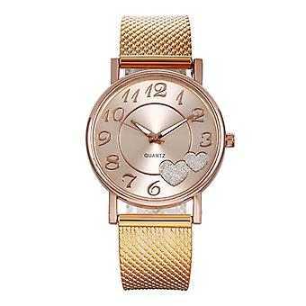 Top Fashion Ladies Mesh Belt Watch Wild Lady Creative Fashion
