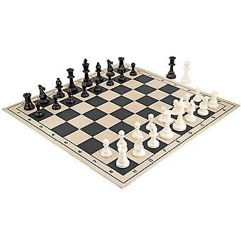 School toernooi vouwen Chess Set zwart