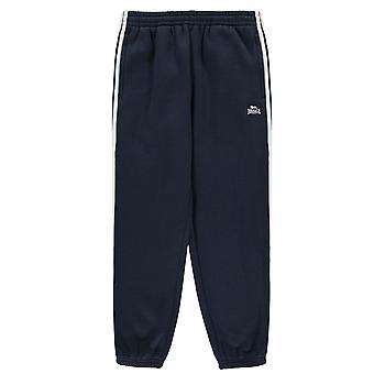 Lonsdale Boys Kids 2 Stripe Closed Hem Jogging Pants Junior Sports Bottoms