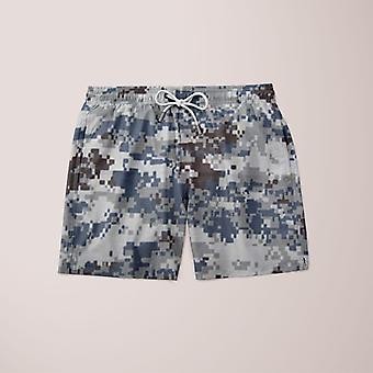 Grey army camofludge shorts