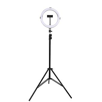 "13""led Ring Light Selfie Dimmable Circle Photography Lamps With Tripod Stand & Phone Holder Extendable Rgb"