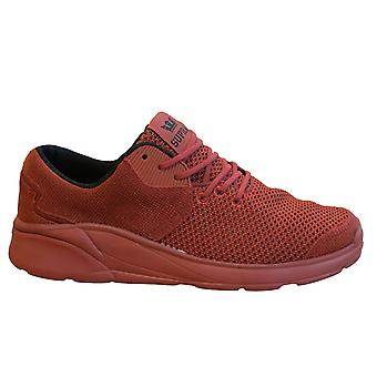 Supra Noiz Mens Trainers Cayenne Red Lace Up Casual Running Shoes 08131 658