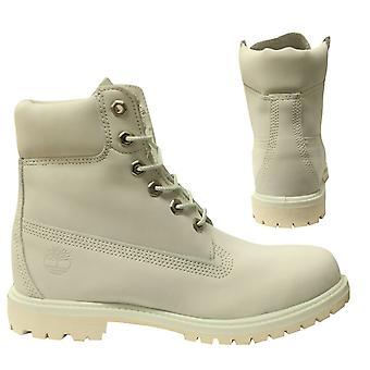 Timberland 6 tommers premium hvit nubuck skinn lace up kvinners støvler A1N76 B*