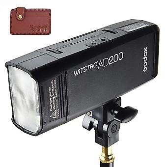 Godox ad200 200ws pocket flash with 2.4g wireless x system, 1/8000s high-speed-sync function, large-