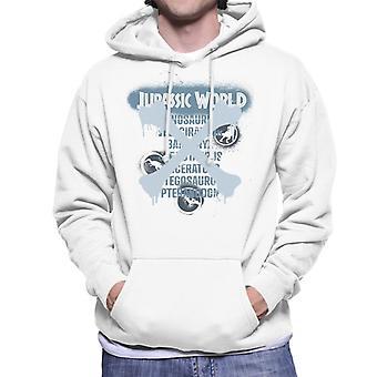 Jurassic World Types Of Dinosaurs Men's Hooded Sweatshirt