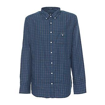 Gant Men Shirt Blue Shirt Long Sleeves Check 3000260 989