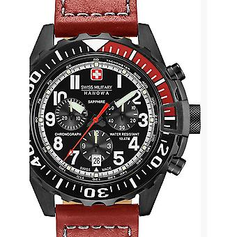 Reloj masculino militar suizo Hanowa 06-4304.13.007, cuarzo, 45 mm, 10ATM