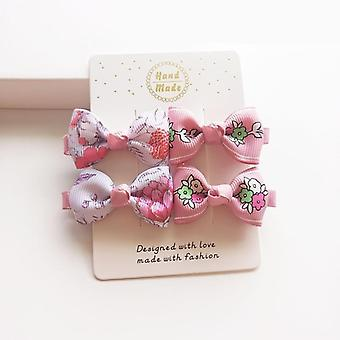 Cute Hair Clip Accessories, Headwear Baby Ribbon Bow Hairpins Full Cover Clips