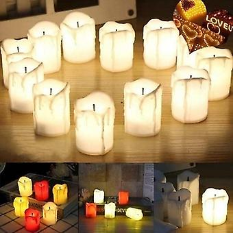 Led Tealight Romantic Creative Votive Flameless Candles Light Lamp