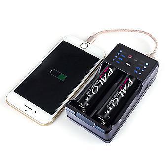 パロ NC572 2 スロット AA AAA Ni-Mh Ni-Cd 充電式バッテリーチャージャーパワーバンク