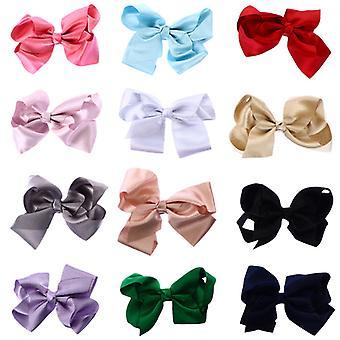 Módní bow-knot krásné vlasy klipy (smíšené barvy)12ks