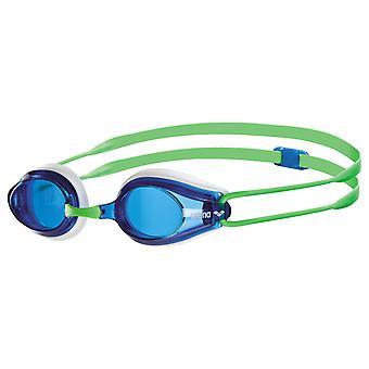 Titres d'arène nagent cadre de lunette - lentille bleu - blanc/vert