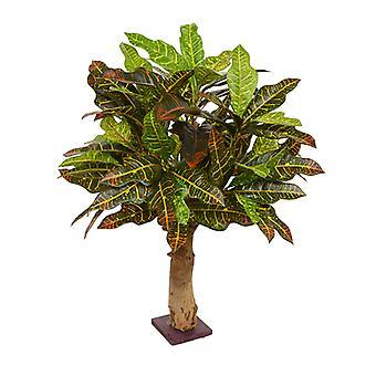 Planta de croton artificial 65 cm na base