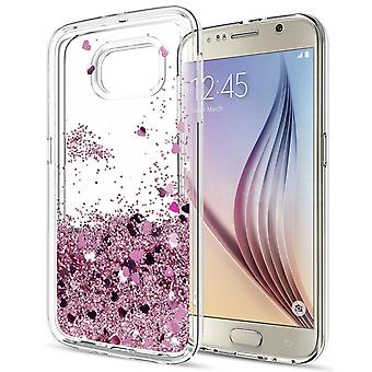 Galaxy S6-Floating Glitter 3d Bling Shell Fall