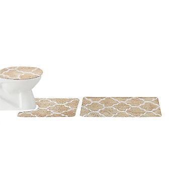 Krone Blume Muster Dusche Vorhang Set 3 Stück
