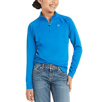 Ariat Sunstopper 2.0 Youth 1/4 Zip Baselayer - Imperial Blue