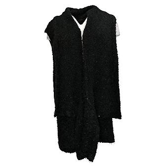 G.I.L.I. Women's Sweater Vest Textured Black A385404