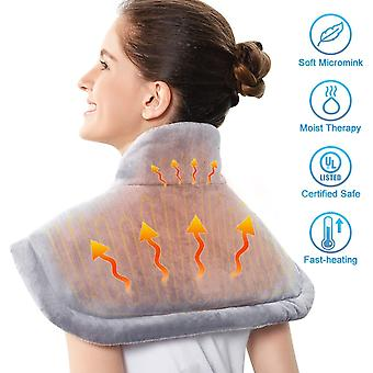Electric large warming heating pad blanket portable shoulder neck back heating shawl wrap pain relief temperature controller