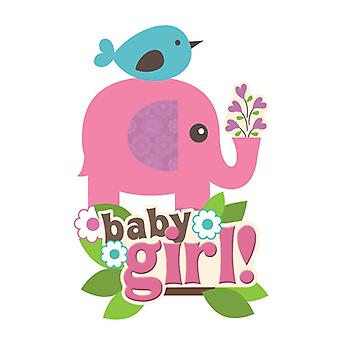 Paper House Productions - 3D Stickers - Baby Girl Scene