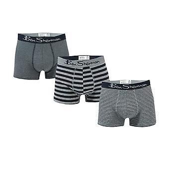 "Hombres"", Ben Sherman Bray 3 Pack Boxer Shorts in Blue"