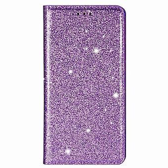 Ultradünnes glänzendes magnetisches Foliogehäuse Huawei P20 Lite - Violett