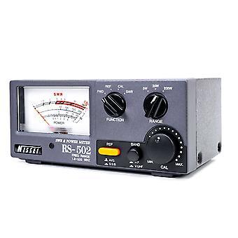 Nissei RS-502 SWR 1.8-125Mhz / 125-525Mhz Wattmeter 3-200W PNI Reflektometer