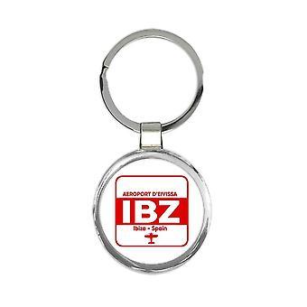 מחזיק מפתחות מתנה: ספרד אירופורט ד'איביסה איביזה IBZ נסיעות