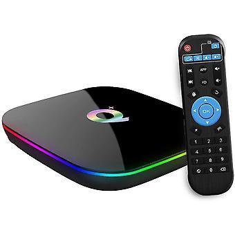 الروبوت التلفزيون مربع، Q Plus TV Box الروبوت 9.0 مع 2Go RAM 16Go ROM H6 رباعية النواة cortex-A53 المعالج الذكية مربع التلفزيون، ويدعم 6K القرار 3D 2.4GHz واي فاي 10 / 100M إيثرنت USB 3.0 وسائل الإعلام لاعب (أسود)