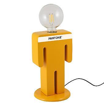 PANTONE Bordslampa Adam Färg Orange, Vit, Svart, Trä L15xP15xA26 cm