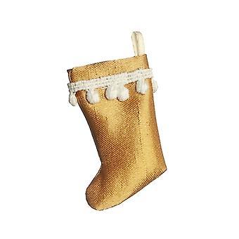 Dolls House Gold Kerstkous Tasseled Trim Decoratie 1:12 Accessoire