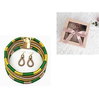 Mehrschicht-Halskette Ohrringe