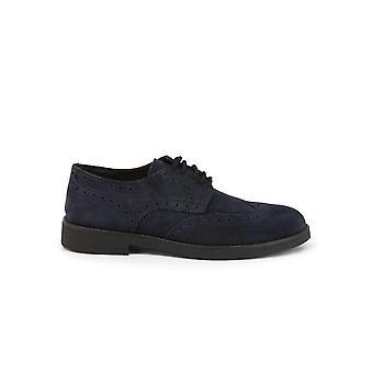 Duca di Morrone - Shoes - Lace-up shoes - 1302D-CAMOSCIO-BLU - Men - navy - EU 43