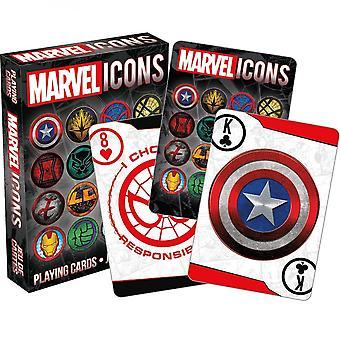 סמלי סמלים וסמלים של מארוול משחקים קלפים
