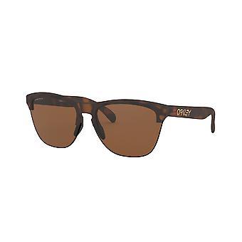 Oakley Frogskin Lite OO9374 11 Matte Brown Tortoise/Prizm Tungsten Sunglasses
