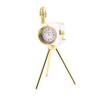 WILLIAM WIDDOP Miniatur Glasuhr - Kamera auf Stativ