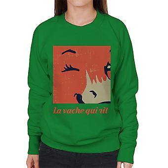 Den grinende ko tæt på blink kvinders sweatshirt