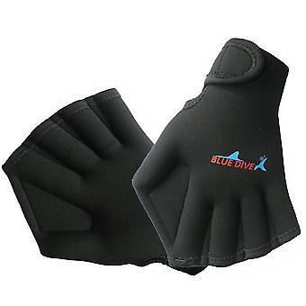 Moye aquatische handschoenen voor het helpen van bovenlichaam weerstand zwemhandschoenen (zwart)