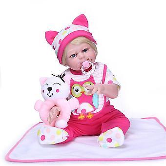 Klasszikus 48cm hercegnő baba kézzel készített teljes szilikon vinil újjászületett baba babák élethű bebe lány újjászületik gyerekek játszótársak játékok