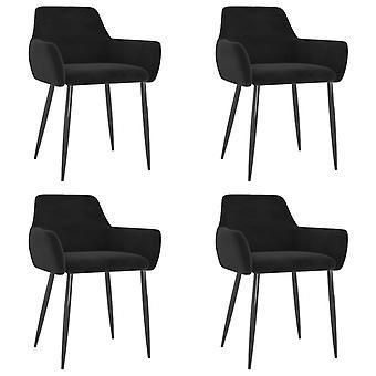 vidaXL dining chairs 4 pcs. Black Velvet